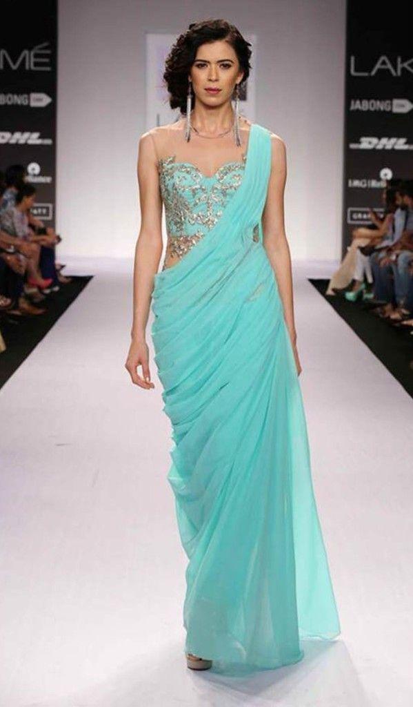 The elegant gown sari..