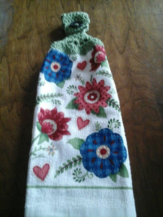 Check out this item in my Etsy shop https://www.etsy.com/listing/263020460/double-hanging-crocheted-kitchen-towel