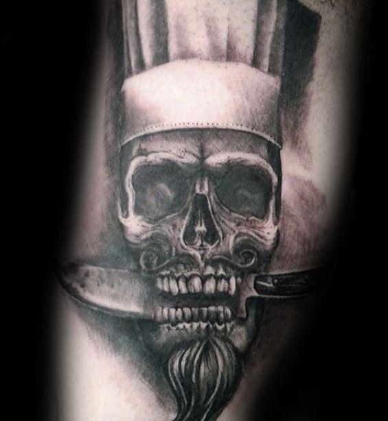 chicos pequeños cuchillo Chef tatuajes en el brazo interior