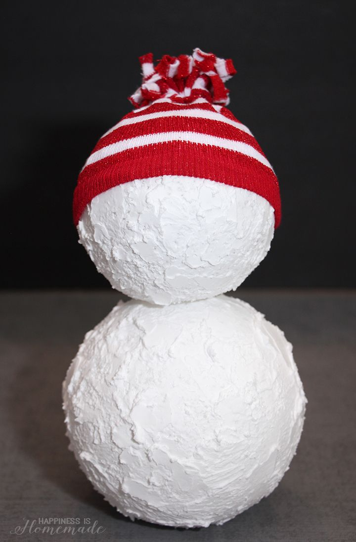 Lovely Christmas Craft Project Ideas Part - 12: Christmas Snowman Holiday Decoration - Can Use CelluClay To Get This Shape  And Texture. A