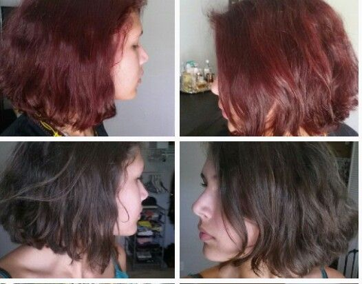Manic Panic Infra Red Before And After Unbleached Hair