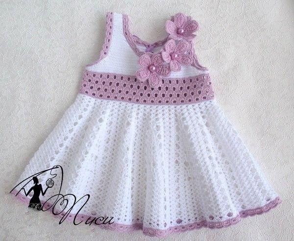 Minunat prieteni minunat rochie care a făcut în Fire Crochet cu grafic - croșetat modele