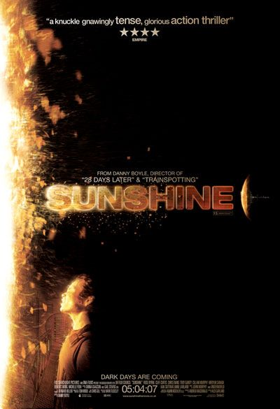 Sunshine. still my favorite Danny Boyle film, and generally one of my favorites. It's just so cool, and the soundtrack at the end, John Murphy's Surface of the Sun is incredible.