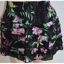O´Neill sukně černá s květy XS