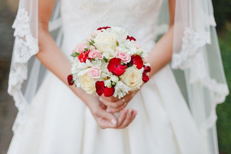 #Brautstrauss in rot & weiß