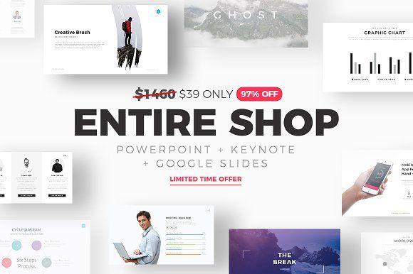 ENTIRE SHOP BUNDLE - 97% OFF by SlidePro on @creativemarket