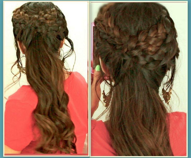 ★GRECIAN BRAID HAIRSTYLES HAIR TUTORIAL FOR MEDIUM LONG HAIR | CURLY PON...