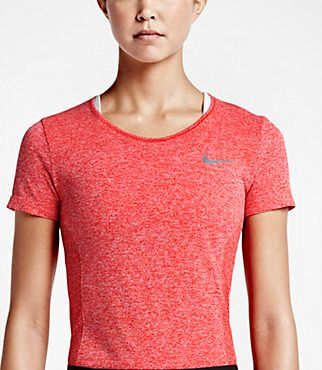 Nike Women's Golf Dri Fit Knit Short Sleeve Top The Nike Dri-FIT Knit Women's Golf Top is made with sweat-wicking, stretchy fabric and ergonomic side panels for a comfortable fit and freedom to move on the course.  Light Crimson $80.00