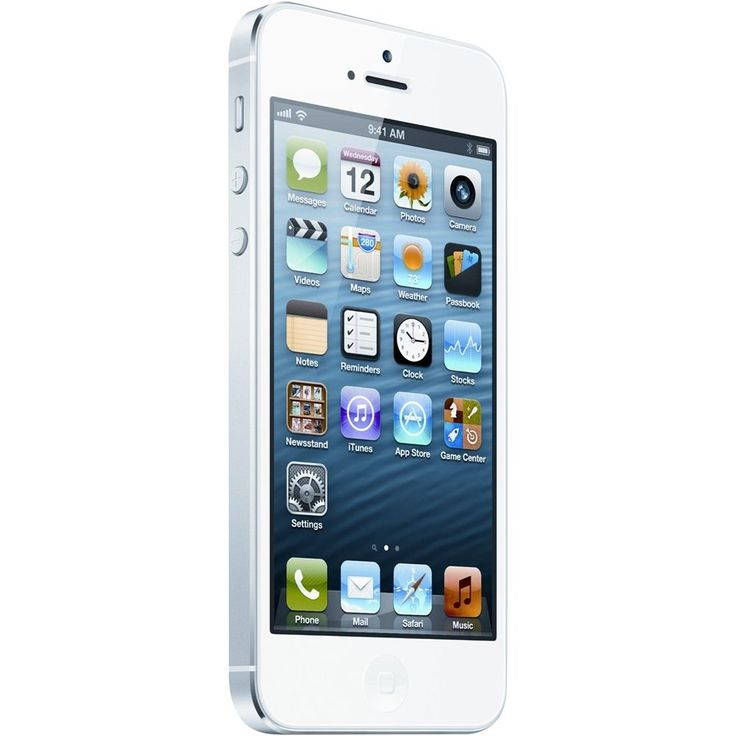 Unlocked Apple - Refurbished iPhone 5 4G LTE with 64GB Memory Cell Phone - White & Silver, A1428IPH5WH64