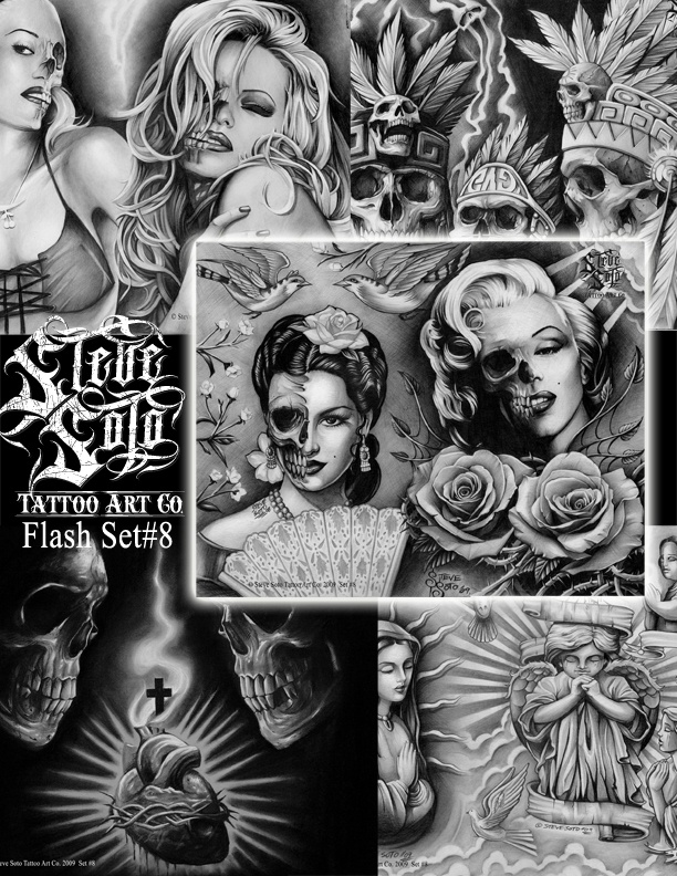 Steve Soto; Tattoo Art Go (Flash Set No.8): Dead Art, Tattoo Flash, Soto Tattoo, Dead Girls, Body Art, Flash Art, Flash Tattoo, Flash Sets, Tattoo Artworks