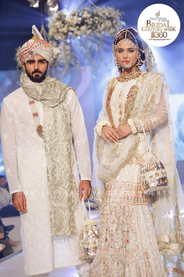 The 20 Best Wedding Dresses from the PBCW 2014 - Ali Xeeshan's white fit-for-royalty bridal.