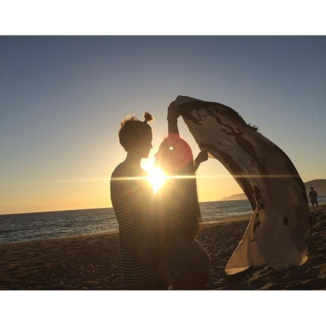 Isabela Moner and Jace Norman at the beach