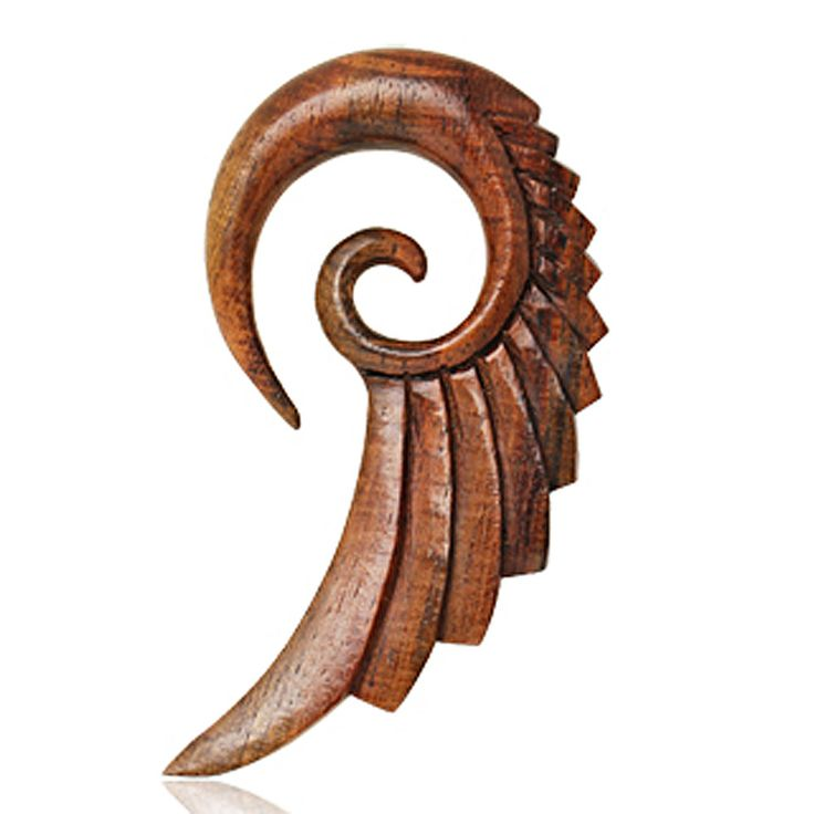 Organic Sono Wood Swan's Wing Spiral Taper