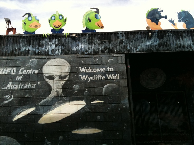 Wycliffe Wells (NT, Australia) ...UFO Centre of Australia - apparently! But definitely a quirky place to visit *LOL*
