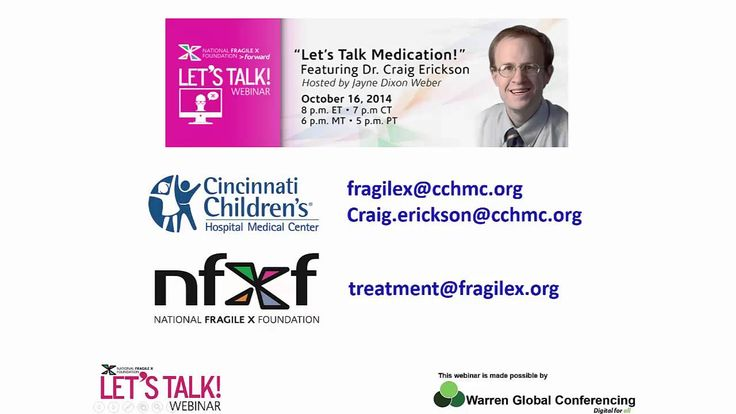 Let's Talk Medication Fragile X Syndrome #fragilex #fragilexsyndrome