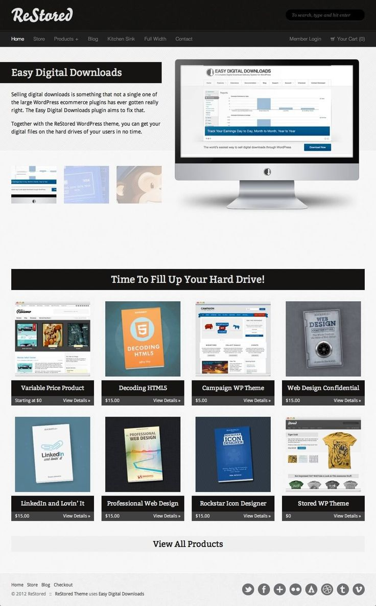 ReStored - WordPress Theme for Authors, eBooks, Digital Downloads Click the link to DEMO | DOWNLOAD NOW
