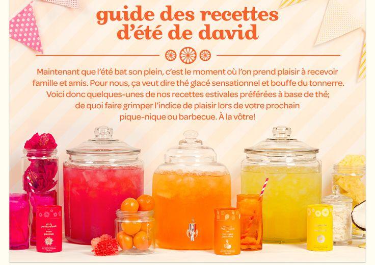 Guide des recettes rafraichissantes de David's Tea
