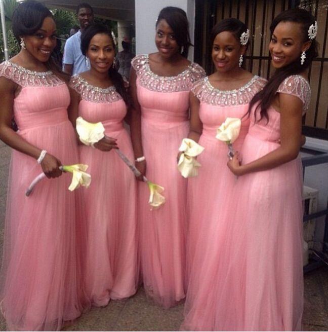 Купить товарA линия глубокий круглый вышивка бисером велюр розовый платья подруги невесты узоры в категории Платья подружек невестына AliExpress.                             Отличный сервис и превосходное качество