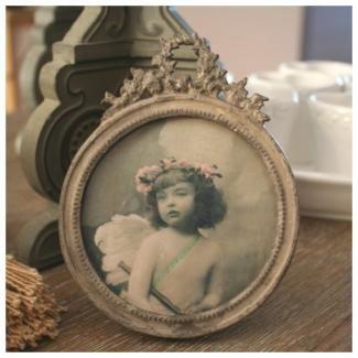 Cadre pour photo rond lin d co comptoir de famille for Miroir comptoir de famille