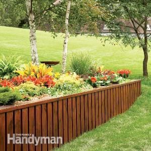 How to Build a Retaining Wall: The Family Handyman - LOVE this website for house stuff!
