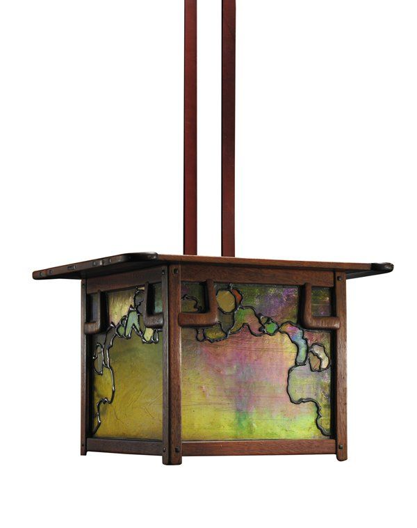 Greene And Greene Lantern, Rainbow Oil Kind Of Look, Metals. Find This Pin  And More On Craftsman Style Lighting ...