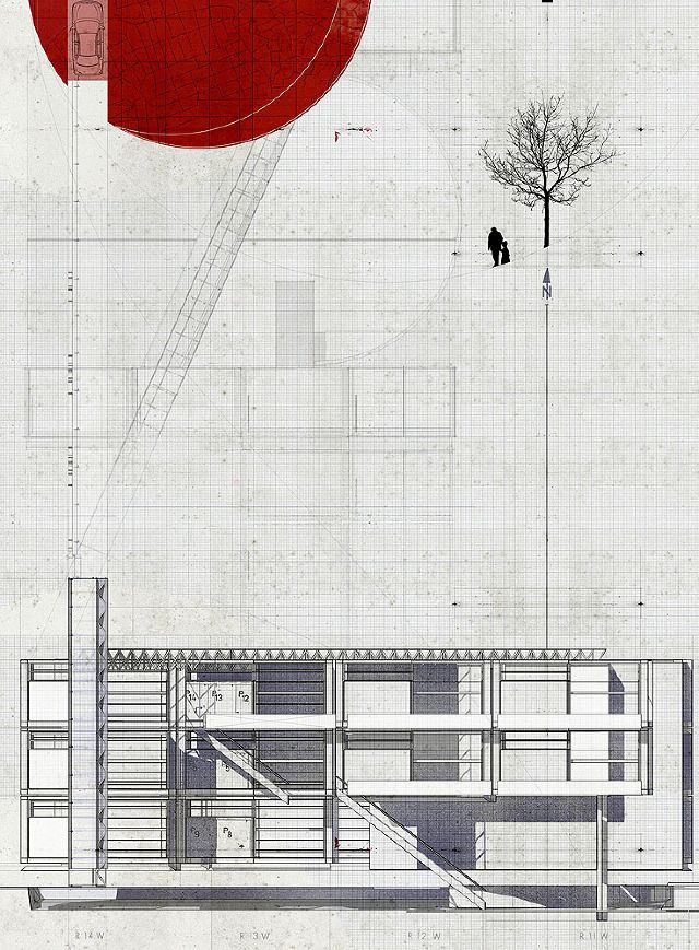 Ortho graphics vigilism architectural drawing pinterest for Cheap architectural drawings