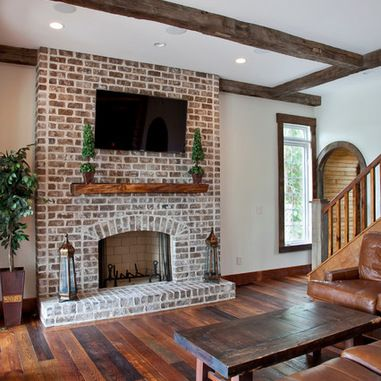 red brick living room brick fireplace design ideas pictures remodel and decor 14279