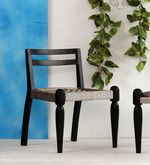 Buy Vyuti Chair with weaving work in Espresso Walnut Finish by Mudramark  Online: Shop from wide range of Accent Chairs Online in India at best prices. ✔Free Shipping✔Easy EMI✔Easy Returns