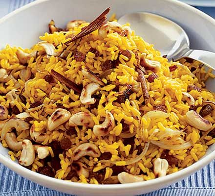 Sara Buenfeld's delicious spicy rice is perfect served with your favourite curry