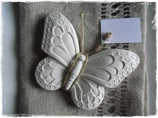 Segnaposto per matrimonio - Farfalla in pasta di mais