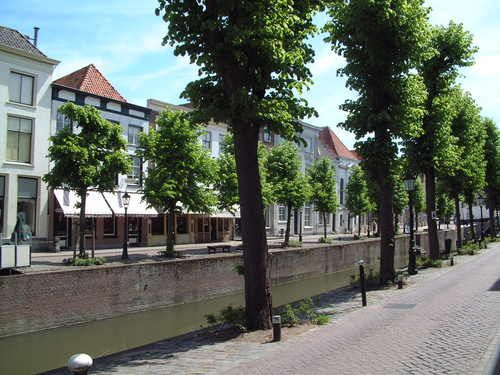 The Town of Schoonhoven in the Netherlands
