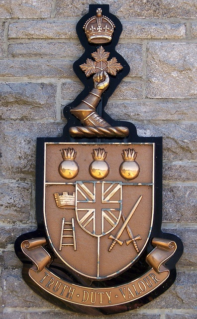 Coat of arms of RMC; English version    Royal Military College of Canada; Kingston, Ontario.