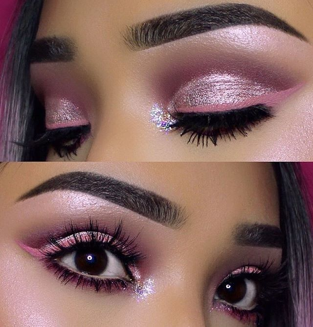 Pretty in pink  Eye look by @vemakeup713 feat. Superfoils shade in 'Electric' ✨ #limecrime #superfoils