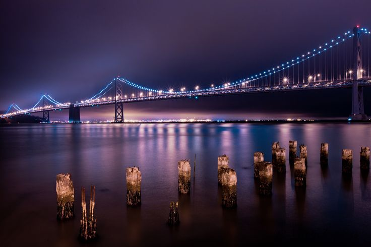 Oakland Bay Bridge in San Francisco.: Bridges Span, Golden Gates Bridges, San Francisco Bays, Beautiful Places, Barns Bridges Tre Houses, Bridges View, Bays Bridges, Architecture Bridges Byway, Bays Usa
