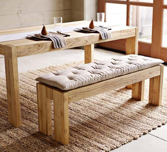 DIY Cushion Idea For Farmhouse Table Benches