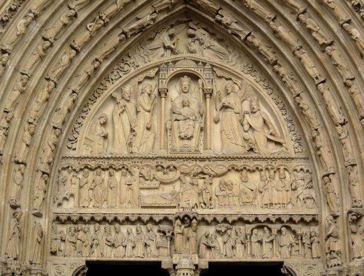 Tímpano de Notre Dame - Puerta de Santa Ana