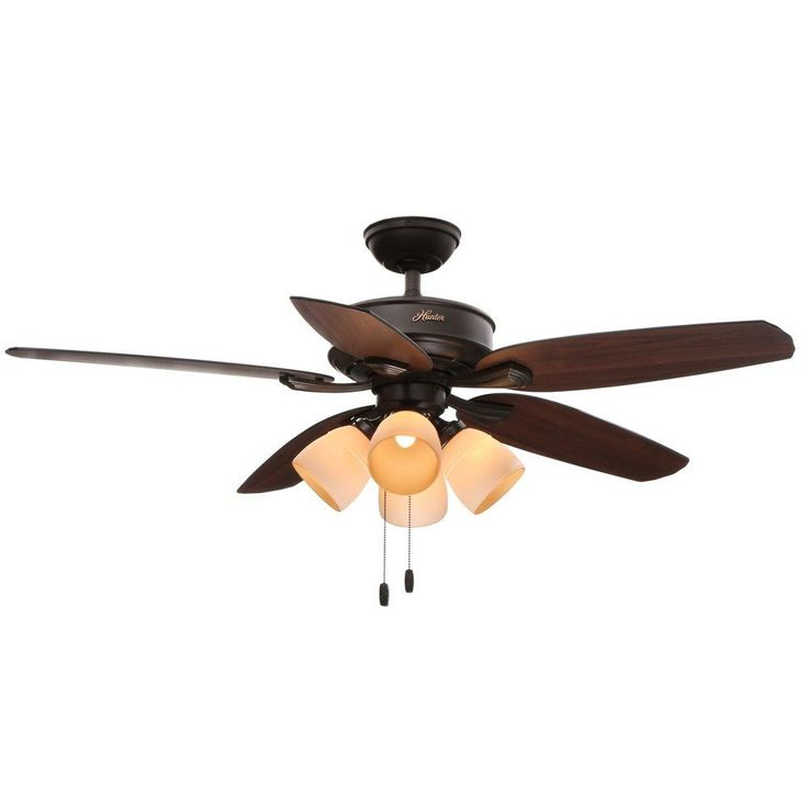 Hunter Channing 52 in. New Bronze Ceiling Fan with Light Kit - 52070 - The Home Depot