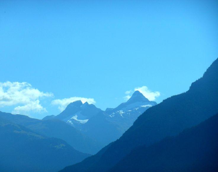 Mountains behind Visp, Switzerland