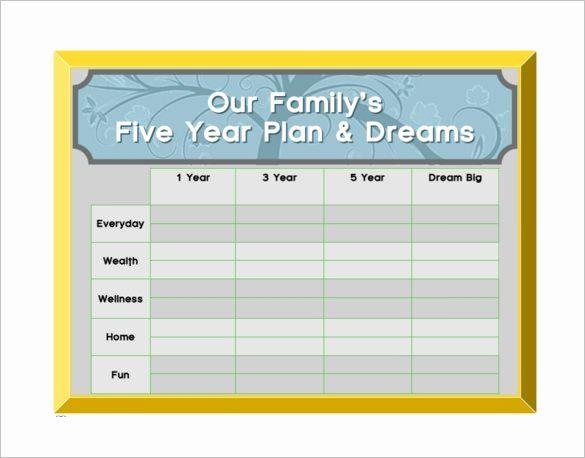 5 Year Life Plan Template Unique 10 5 Year Plan Templates Pdf Doc Life Plan Template Financial Plan Template Year Plan