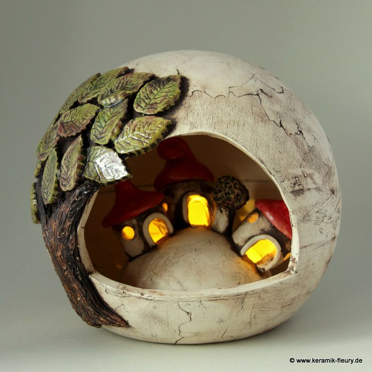 Wichtel-Windlicht - FLEURY - Kreative Keramik für Haus und Garten