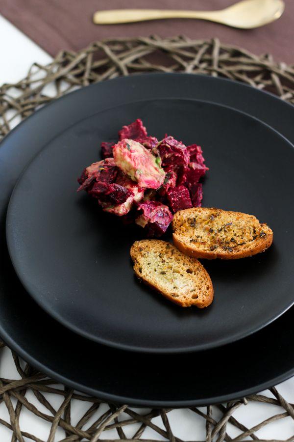 Herbst Dinner, Menü, Fleurcoquet, Rote Bete Avocado Salat, Café et le Dîner