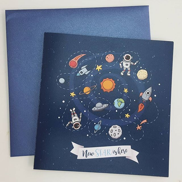 #minidreamers #baptism_invitation #space #astronaut #planets #stars #solar_system #blue #MiniDreamers