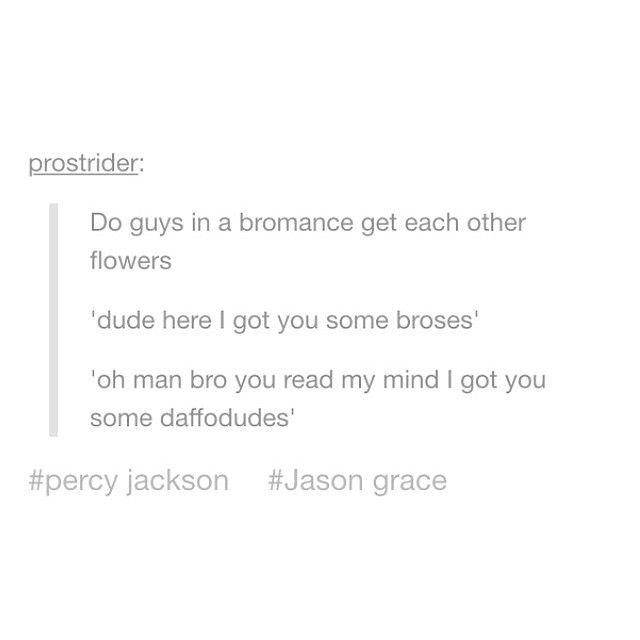 #Percy Jackson #Jason Grace #Bromance