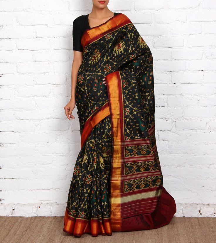 Black Pure Silk Patola Saree