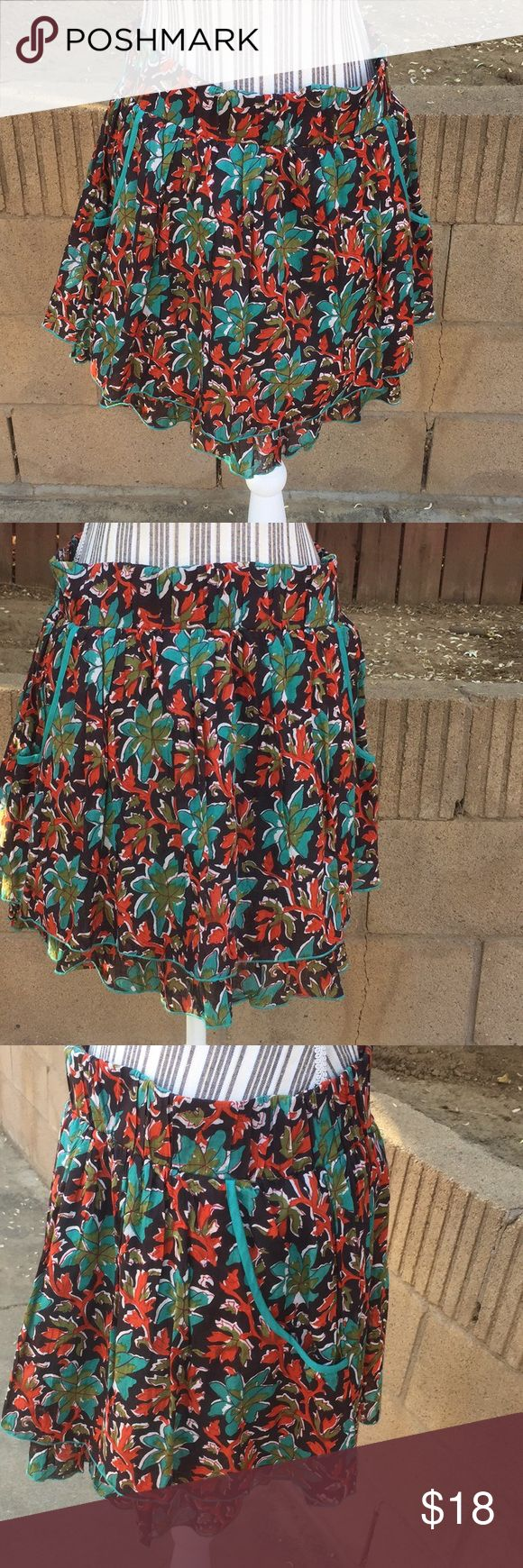 American rag skirt. Double ruffle in front NWT Never washed or worn. Shallow pockets American Rag Skirts
