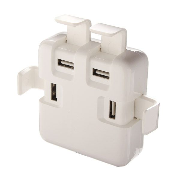 Universal 4 Usb Ports 4a 1 5m Eu Plug Power Cord Desket Charger For Cell Phone Tablet Powerbank Phone Charger Station Phone Charging Usb Travel Charger