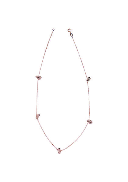 Lucy Folk presents TROPICALISMO - NH  SH: Spring/Summer 13 - WATERMELON PIP NECKLACE (ROSE GOLD PLATE)