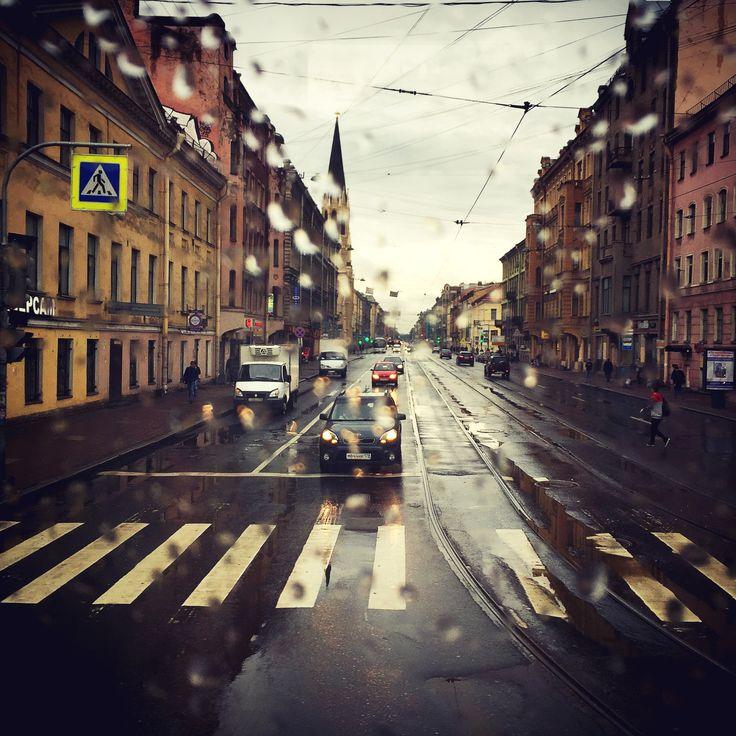 raining St Petersburg