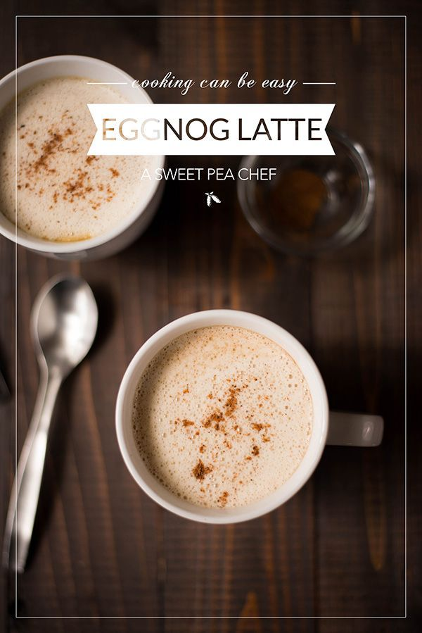 Here's a tasty (better-than-Starbucks!) Eggnog Latte. It's so easy to make a latte at home without using an espresso machine!