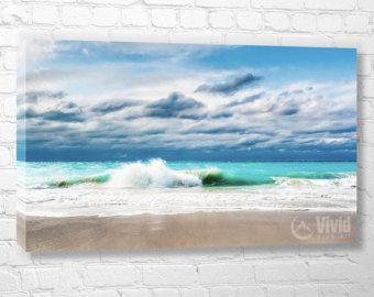 Venta de lona de arte Giclee arte costero pared arte por JoelleJoy